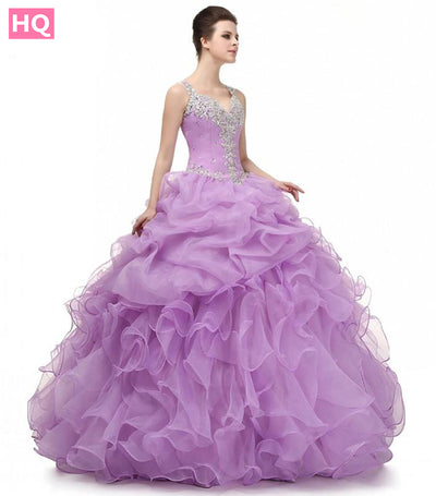Lilac Ball Gown Prom Dress