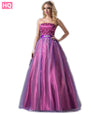 Long Purple Ball Gown Prom Dresses