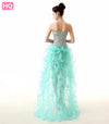Mint Green High Low Prom Dresses 2017 Sweetheart Formal Women Evening Gowns