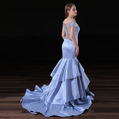 NIXUANYUAN 2017 Custom Made Deep Sweetheart Satin Beaded Prom Dress 2017 Sexy Mermaid Party Dress Illusion vestidos de baile