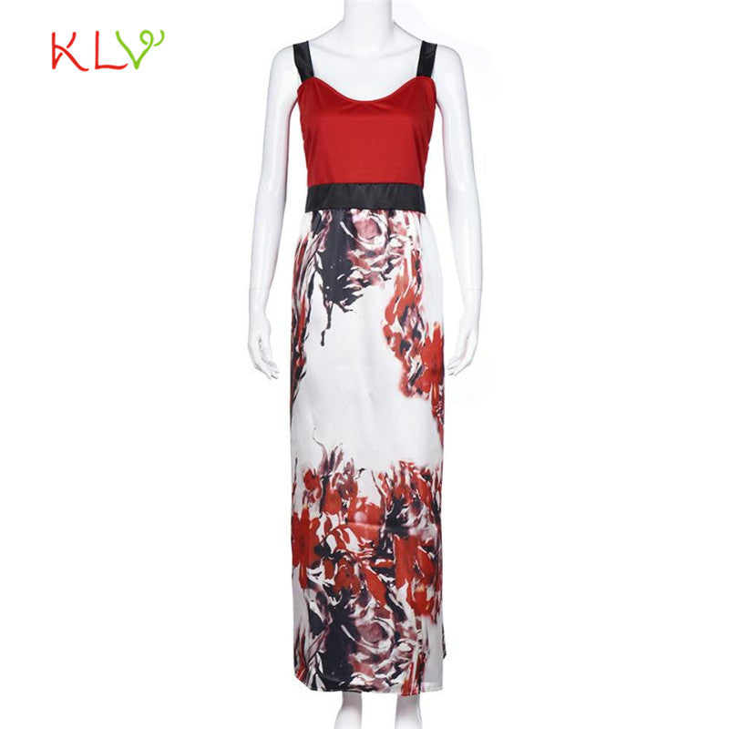 Plus Size Women Floral Printed Long Evening Party Prom Gown Formal Dress 17SEP29