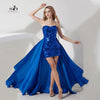 Detachable Party Dresses Royal Blue Sexy Sequin