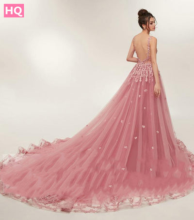 Open Back Evening Dresses Prom Party Dress