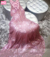 Sparkled Gorgeous Mermaid Long Rose Pink Prom Dresses Spaghetti Criss Cross Straps Glitter Sequin