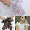 Women Lady Lace Gloves Cat Bowknot Party Prom Bride Wrist Mittens