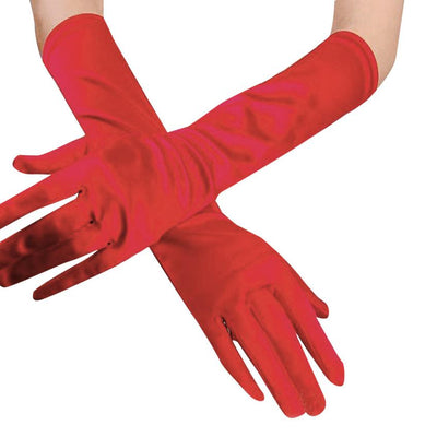 dece142017  long gloves solid Womens Satin Opera Evening Party Prom Gloves