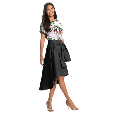 FEITONG Brand 2017 Fashion New Women Flared Knee Length Skater Skirt Ladies Casual Mini Office Work Skirt