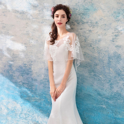 ong Sexy Prom Dresses Appliques Mermaild Style Party Evening Gowns 2018 With Cap Sleeves