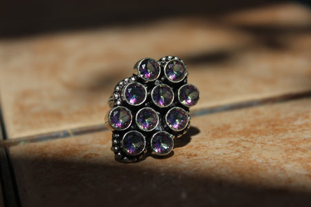 Mystic Topaz Blooming Lotus Ring