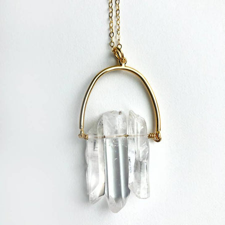 Triple Crystal Arch Necklace