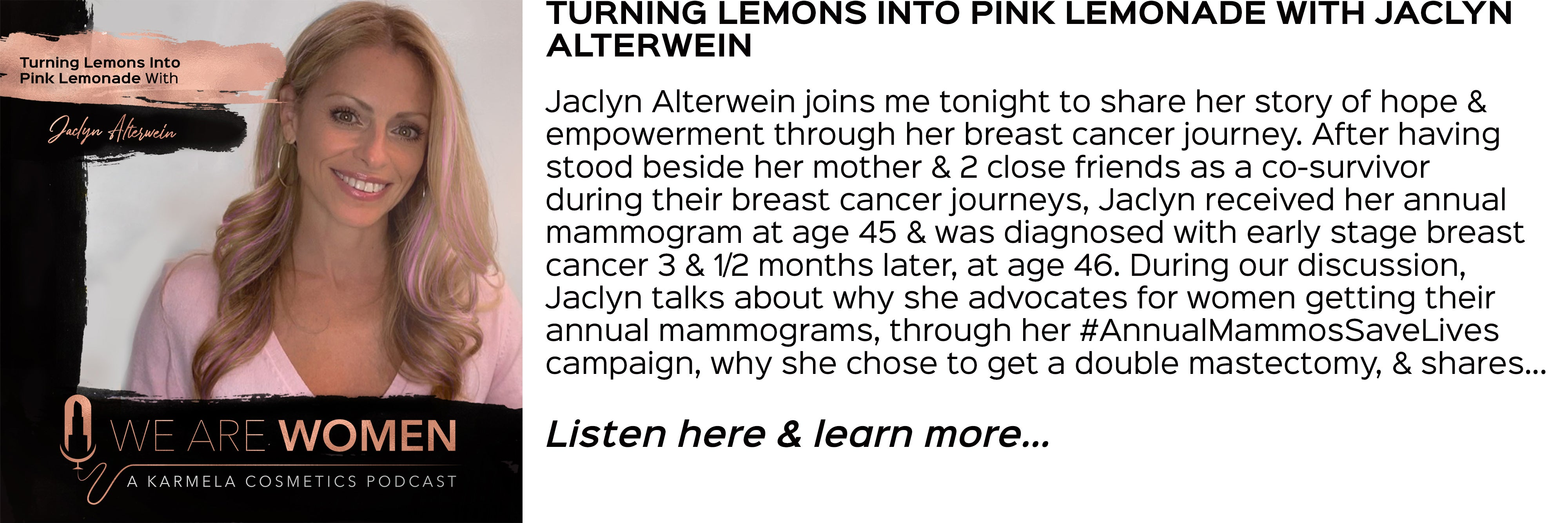 Jaclyn alterwein, breast cancer awareness