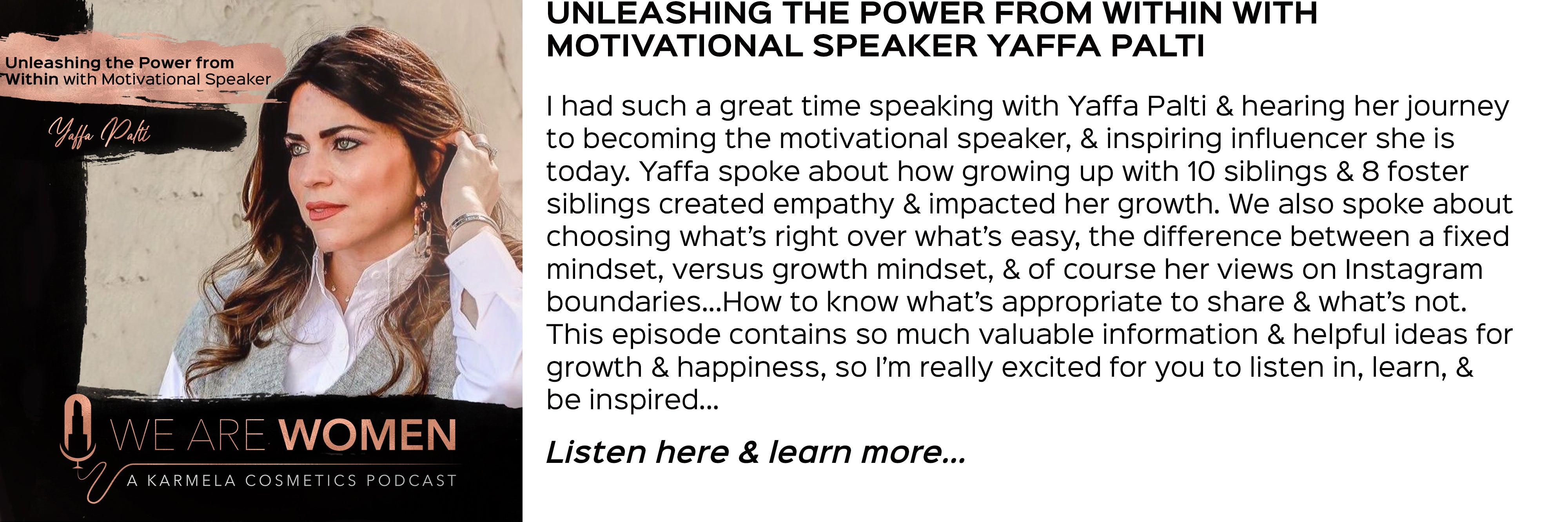 Speaker Yaffa Palti, unleashing the power from within