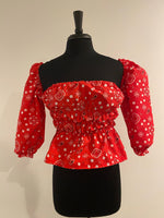 Load image into Gallery viewer, Cowboy's Sweetheart Blouse - Red, Navy, or Pink