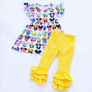 Mouse Head Character Ruffle Pant Outfit - loopylousboutique