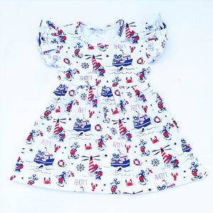 Mickey & Minnie Cruise Boat Pearl Dress - loopylousboutique