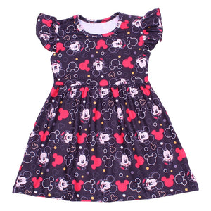 Mickey Mouse Flutter Sleeve Boutique Dress - loopylousboutique