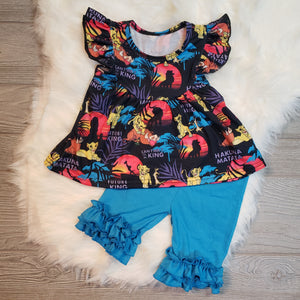 Lion King Flutter Sleeve & Shorts Outfit - loopylousboutique