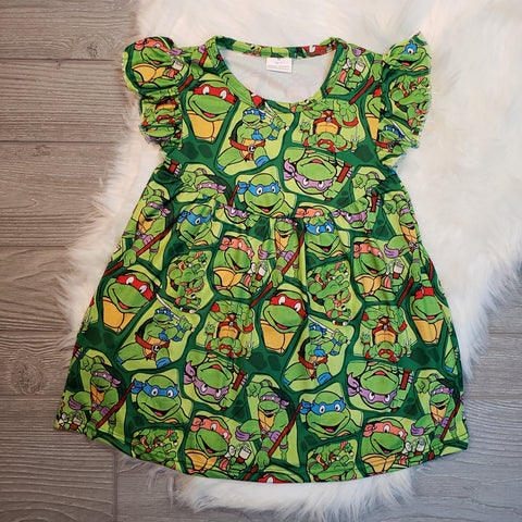 Teenage Mutant Ninja Turtles Flutter Dress - loopylousboutique