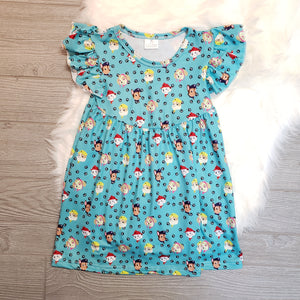Paw Patrol Short Sleeve Flutter Dress - loopylousboutique