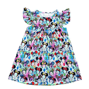 Explore The World Minnie Ears Disney Dress - loopylousboutique