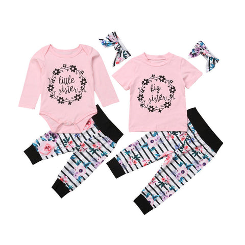 Big Sister Little Sister Pink Legging Set - loopylousboutique