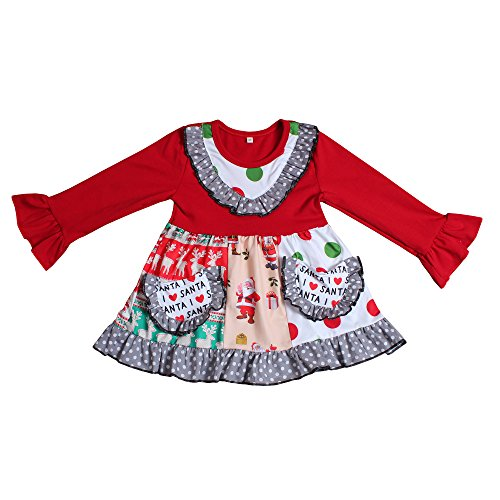 Santa Christmas Girls Boutique Outfit - loopylousboutique