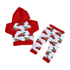 Christmas Truck Hoodie & Pants Set - loopylousboutique