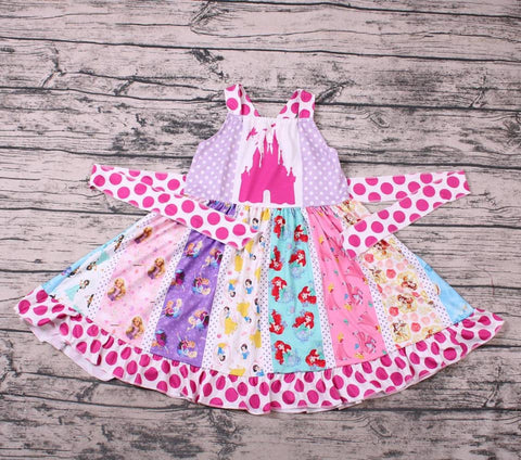 Princess Panel Tie Back Twirl Dress - loopylousboutique