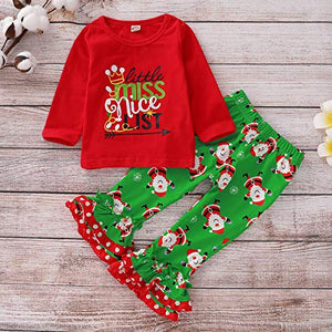 Little Miss Nice List Ruffle Outfit - loopylousboutique