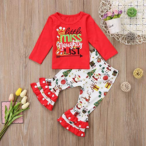 Little Miss Naughty List Ruffle Outfit - loopylousboutique