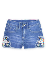 Unicorn Patch Denim Short (2 Colors) - loopylousboutique