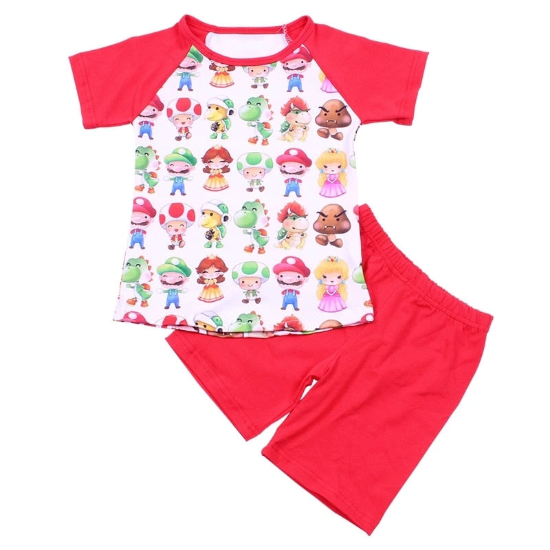 Mario Character Boys Shorts Set - loopylousboutique