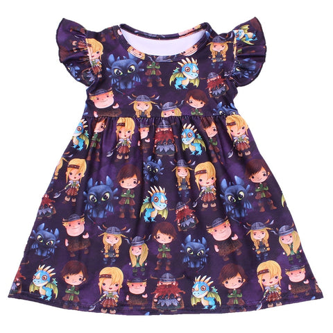 How To Train Your Dragon Flutter Dress - loopylousboutique