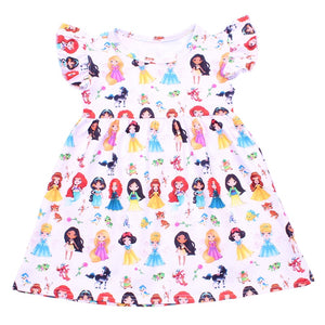 Princesses & Sidekicks Milksilk Dress - loopylousboutique
