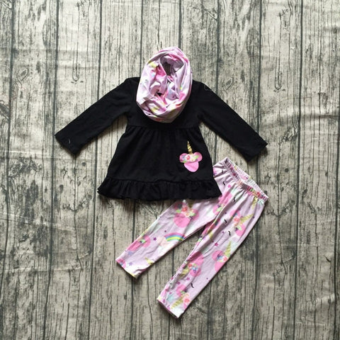 Minnie Unicorn Outfit with Scarf - loopylousboutique