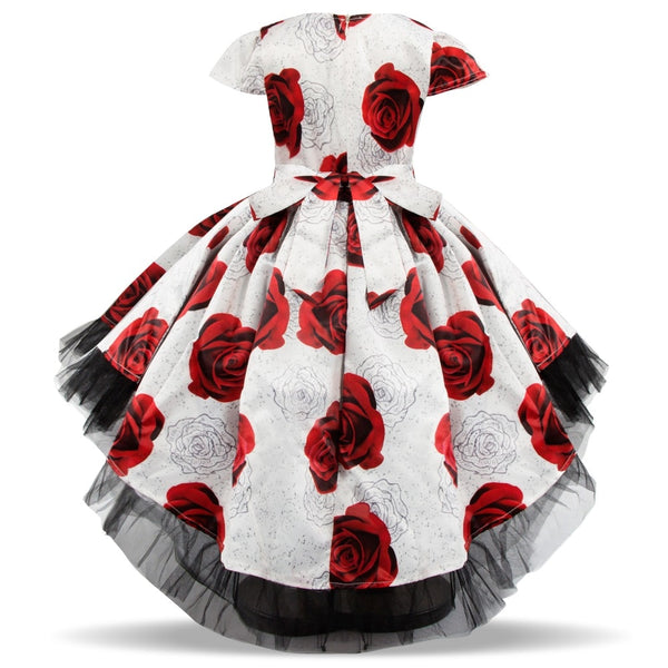 Red Rose High Low Flower Girl Dress - loopylousboutique