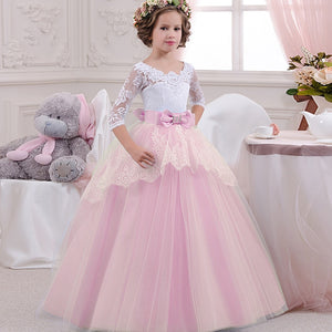 Layered Lace & Tulle Flower Girl Dress (3 Colors) - loopylousboutique