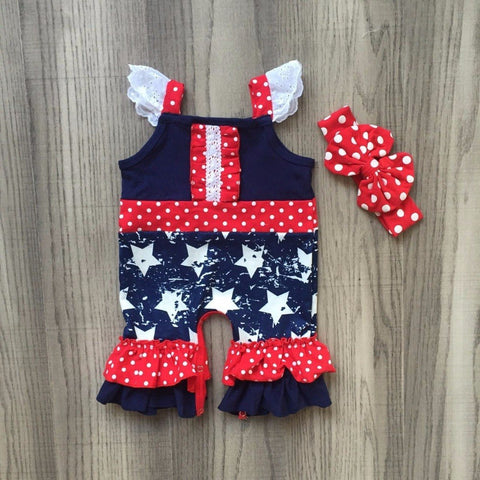 Stars & Stripes Boutique Romper - loopylousboutique