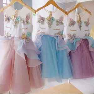 Unicorn Tulle Tutu Dress (3 Colors) - loopylousboutique