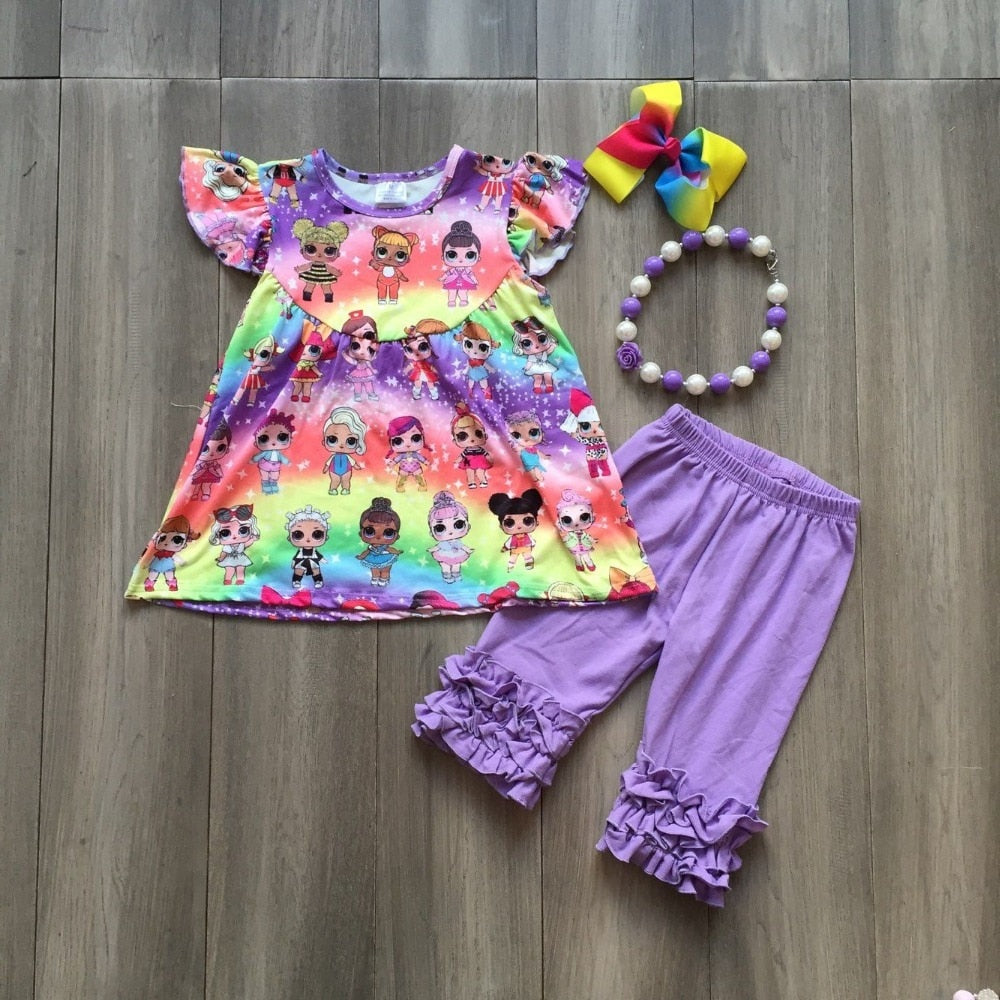 Rainbow LOL Ruffle Outfit With Accessories - loopylousboutique