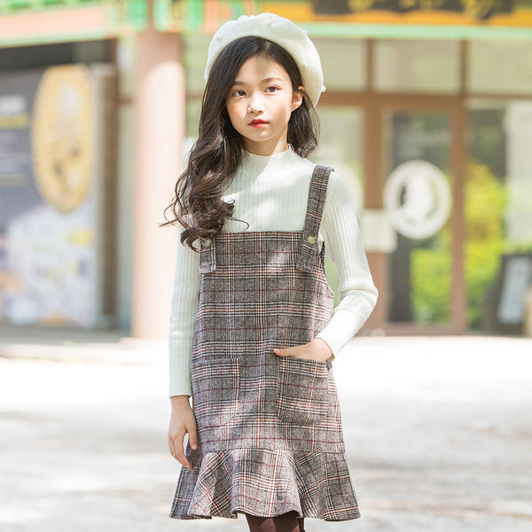 Classic Plaid Jumper Overalls Dress - loopylousboutique