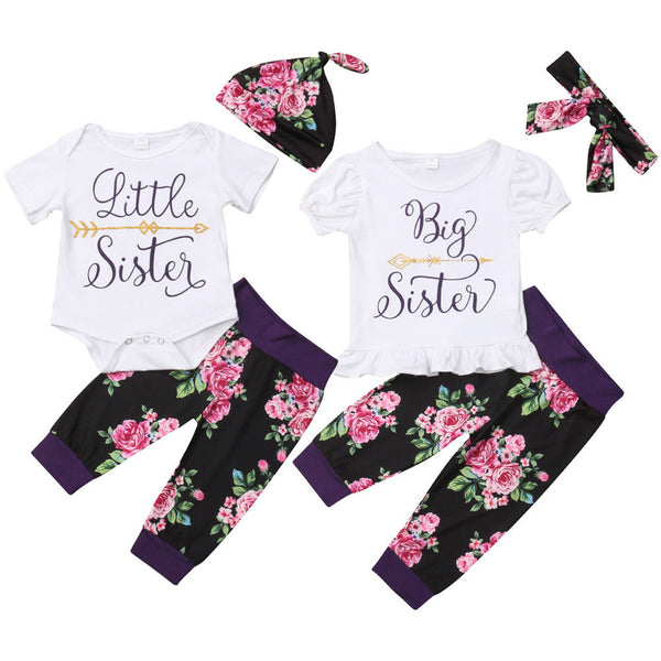 Big Sister Little Sister Floral Pants Set - loopylousboutique