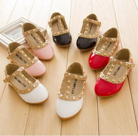 Gold Studded Girls Shoes - 4 Colors - loopylousboutique