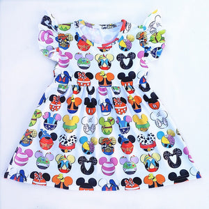 Mouse Heads Character Boutique Dress - loopylousboutique