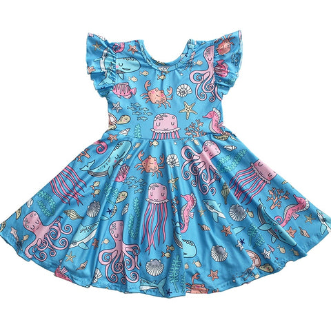 Under The Sea Flutter Twirl Dress - loopylousboutique