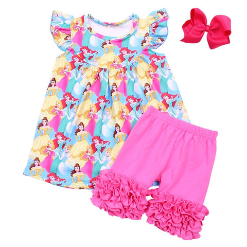 Princess Flutter Sleeve Ruffle Shorts Set - loopylousboutique