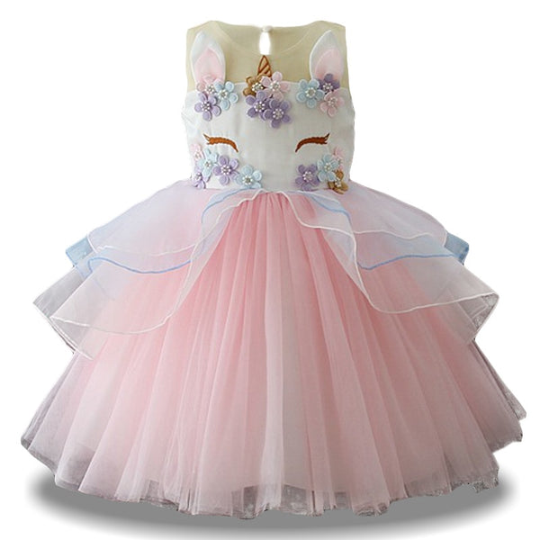 Embroidered Unciorn Tutu Dress (4 Colors) - loopylousboutique