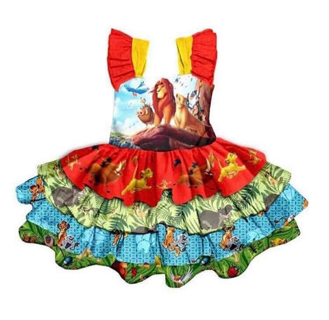 Lion King Layered Ruffle Dres - loopylousboutique