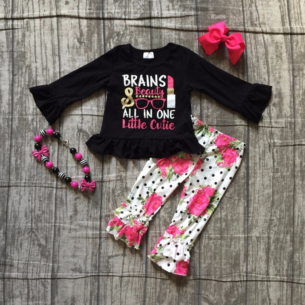 Brains & Beauty All In One Little Cutie Outfit - loopylousboutique
