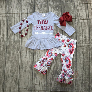 Tiny Teenage Ruffle Outfit w/ Accessories - loopylousboutique